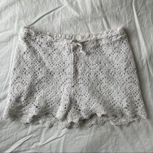 Zara White Lace Shorts